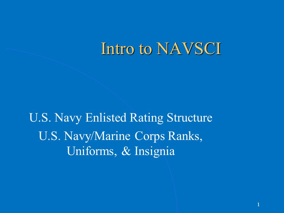 Intro To Navsci Us Navy Enlisted Rating Structure Ppt Video