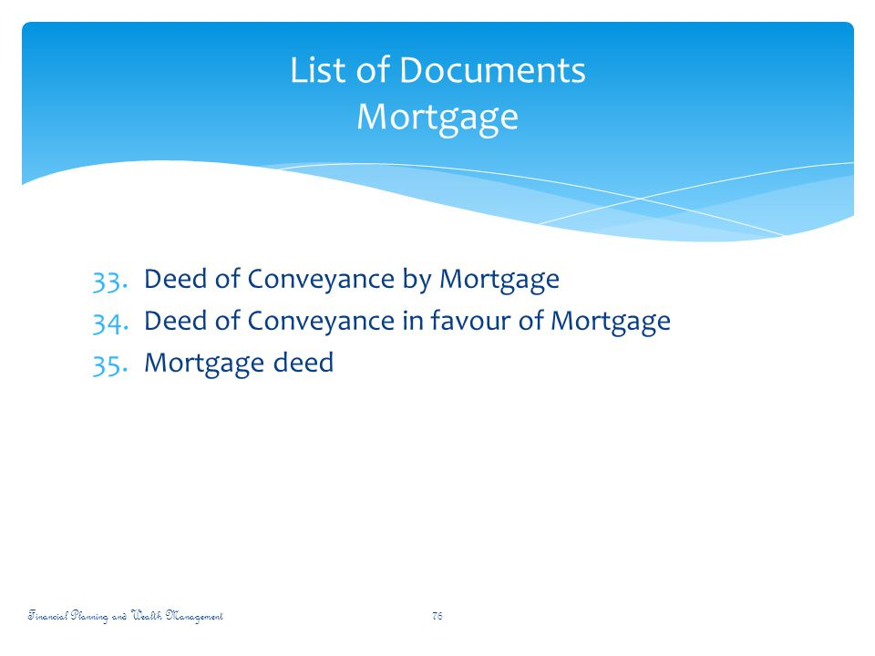 Financial planning wealth management ppt download for Financial documents needed for mortgage