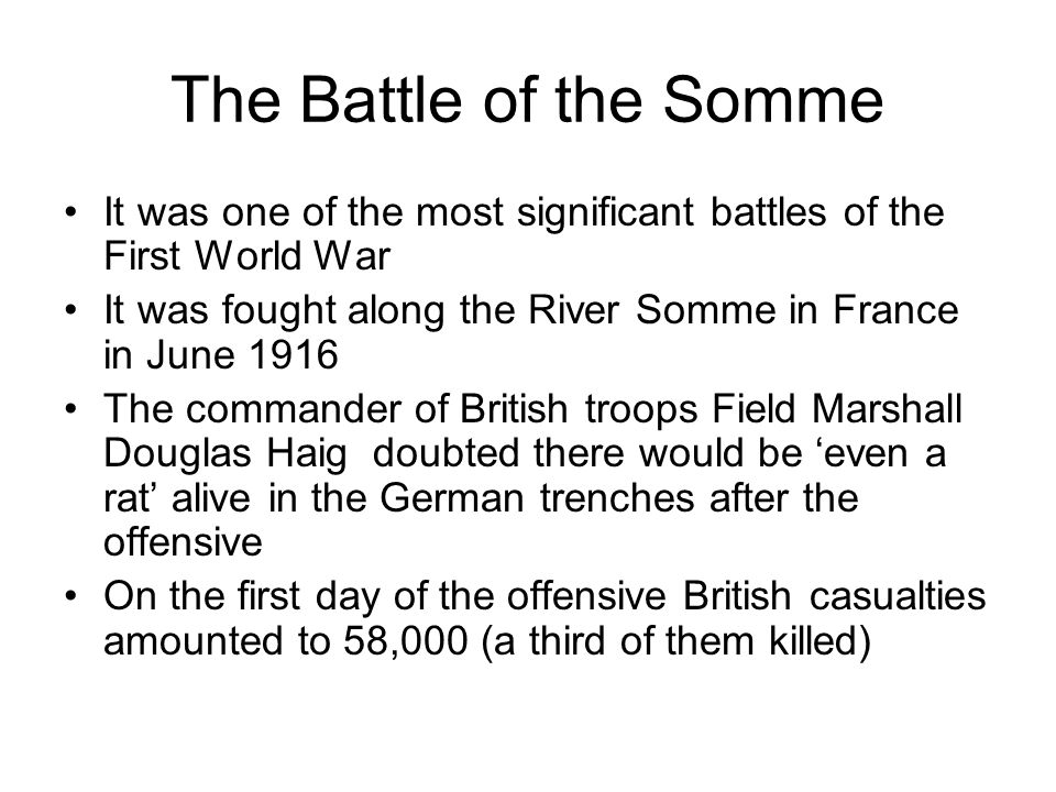 """the first world war field marshall haig the butcher of the somme essay Field marshal sir douglas haig: world war i's worst """"on the somme, [haig] the sea changes set in motion by the first of the world wars became starkly."""