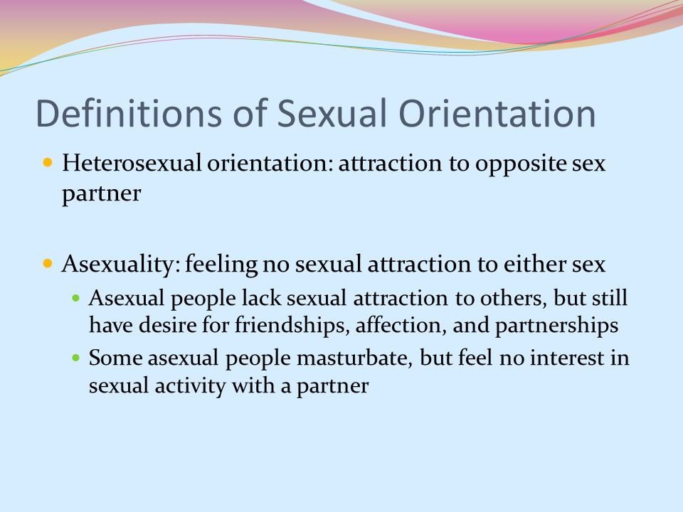 defining sexual orientation Sexual orientation laws backed by substantial penalties, not to mention potential for publicly shaming violators, require some form of objective clarity.