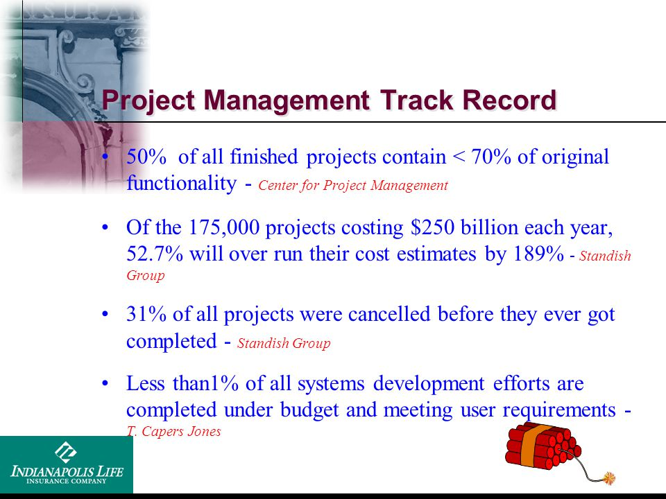 Project Management Track Record