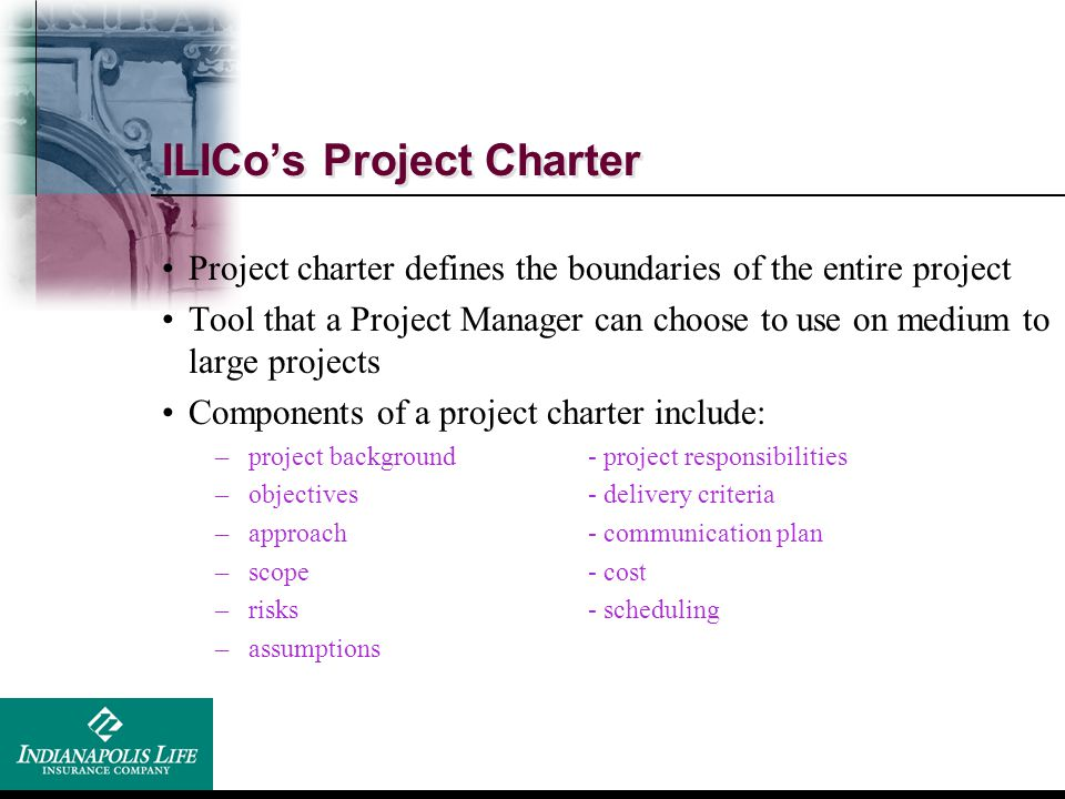 ILICo's Project Charter