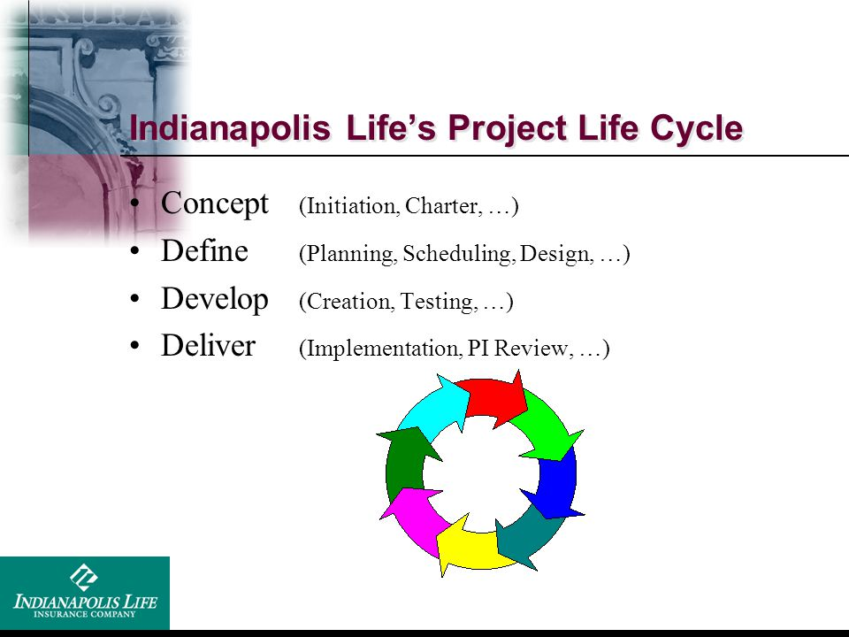 Indianapolis Life's Project Life Cycle