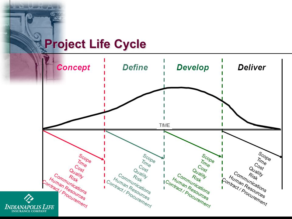 Project Life Cycle Concept Define Develop Deliver