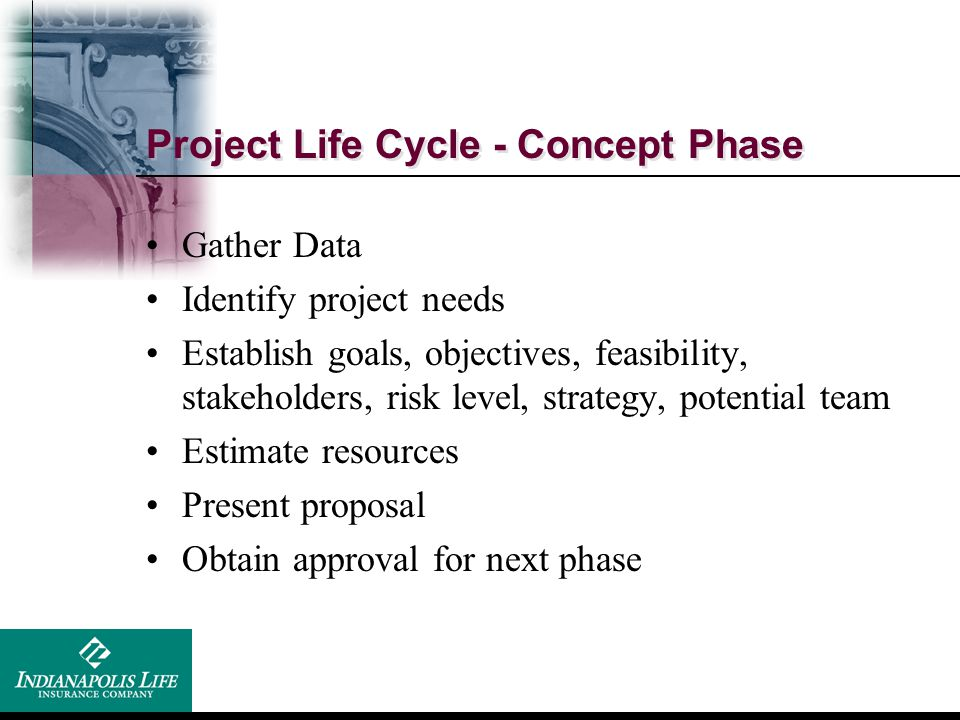 Project Life Cycle - Concept Phase