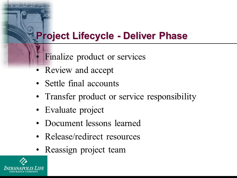 Project Lifecycle - Deliver Phase