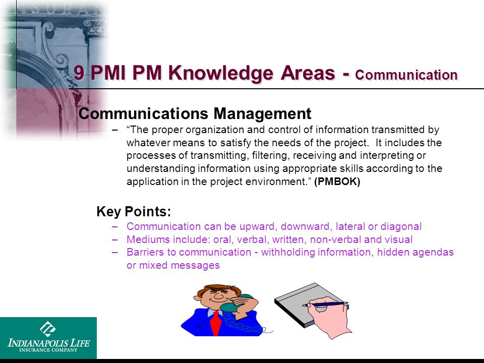 9 PMI PM Knowledge Areas - Communication