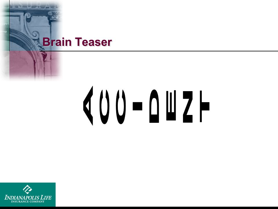 Brain Teaser ACCIDENT Accident prone