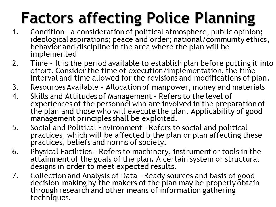 factors affecting community policing This review focuses on community-oriented policing interventions and their ability  to  assessing factors that affect the implementation of community policing.