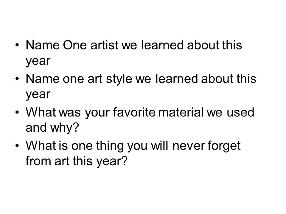 Name One artist we learned about this year