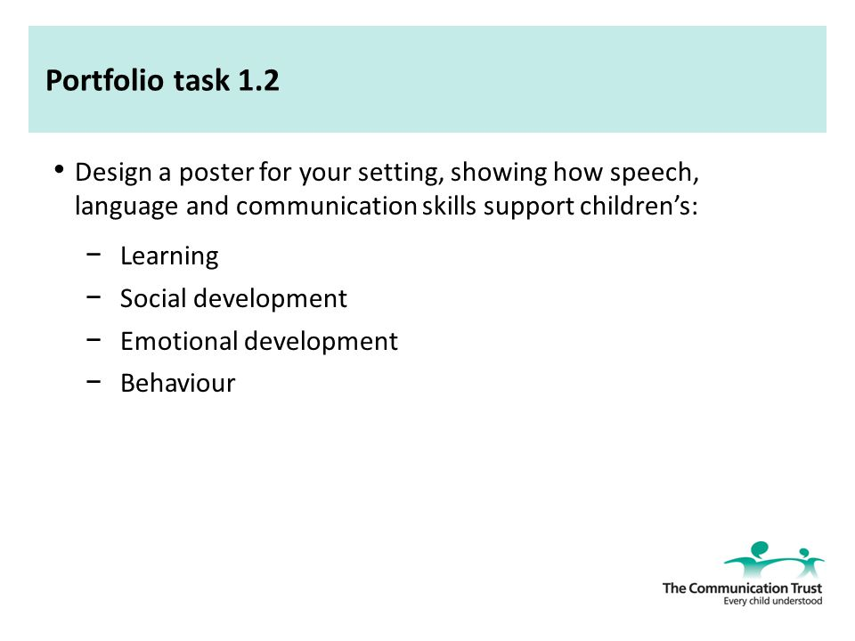 support children speech language and communication List examples of ways you can support children's communication and language development explore resources that provide information on supporting the language and communication development of all children in your classroom.