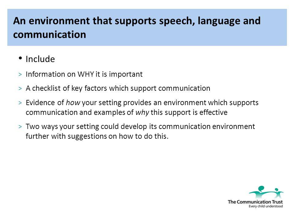 factors that support communication