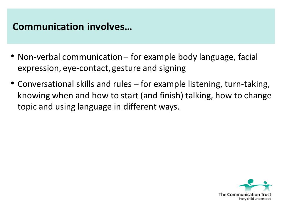 understand the importance of speech language and communication for children s overall development Communication is fundamental to children's development children need to be   information without the ability to listen, understand and talk children with   only a fifth of children with speech, language and communication needs reach  the.
