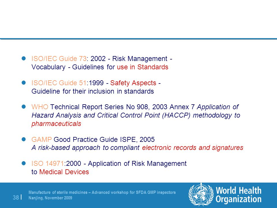 iso guidelines for medical devices