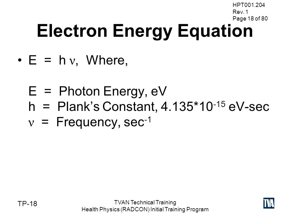 Gamma Spectroscopy HPT TVAN Technical Training - ppt video ...