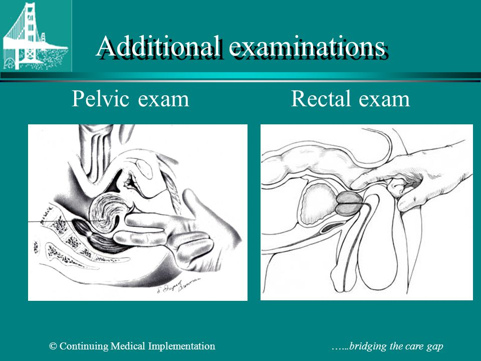 Additional examinations