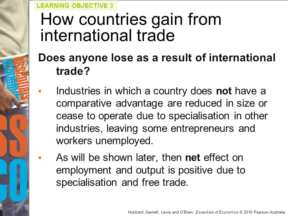 international trade and specialisation International trade is the exchange of capital, goods, and services across international borders or territories trading-partners reap mutual gains when each nation specializes in goods for which it holds a comparative advantage and then engages in trade for other products.