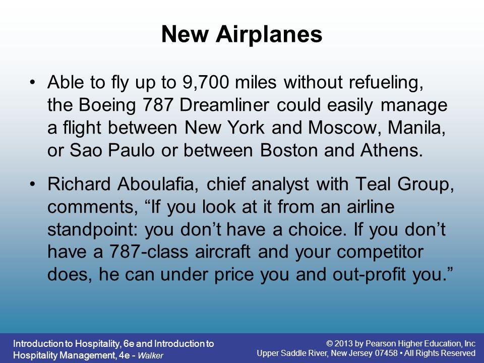 Introduction to hospitality 6e ppt video online download 19 new airplanes fandeluxe Gallery