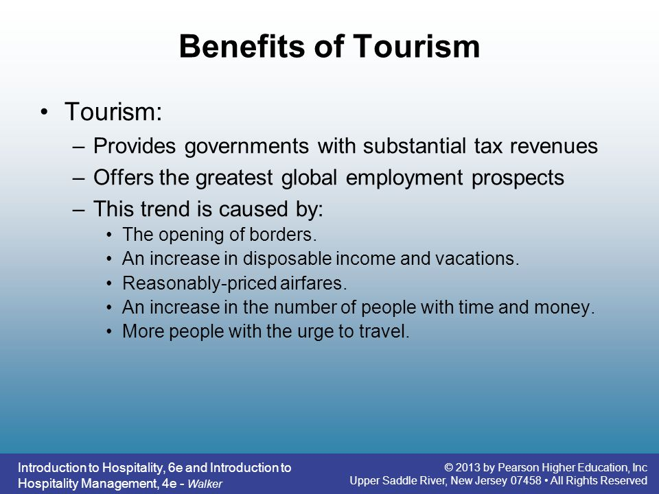 Introduction to hospitality 6e ppt video online download 5 benefits fandeluxe Gallery