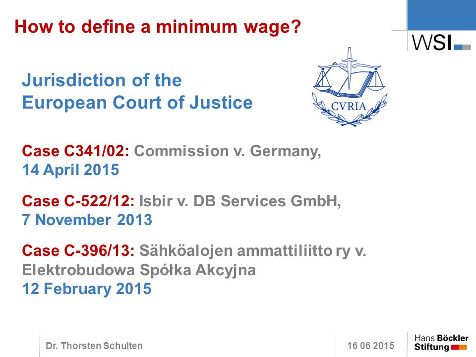How to define a minimum wage experiences from germany for Minimum gmbh