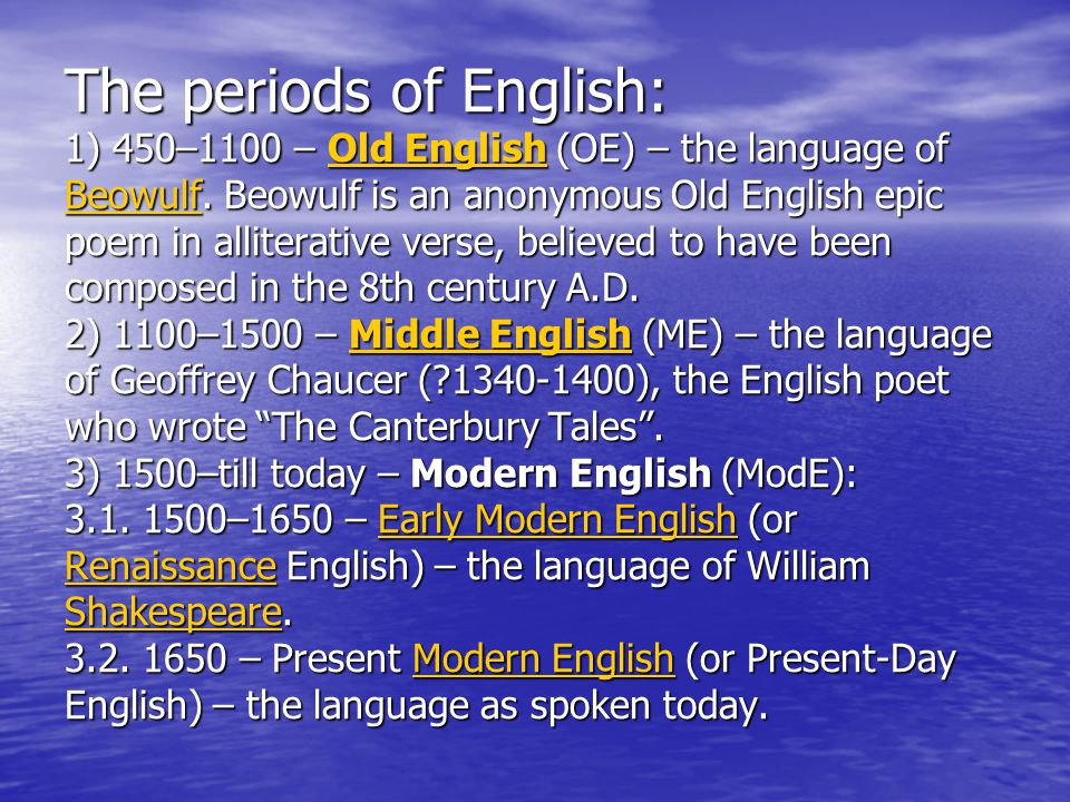 written mode english language