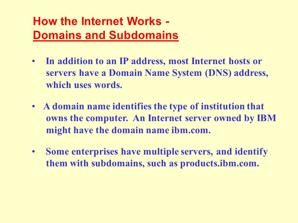 How the Internet Works - Domains and Subdomains