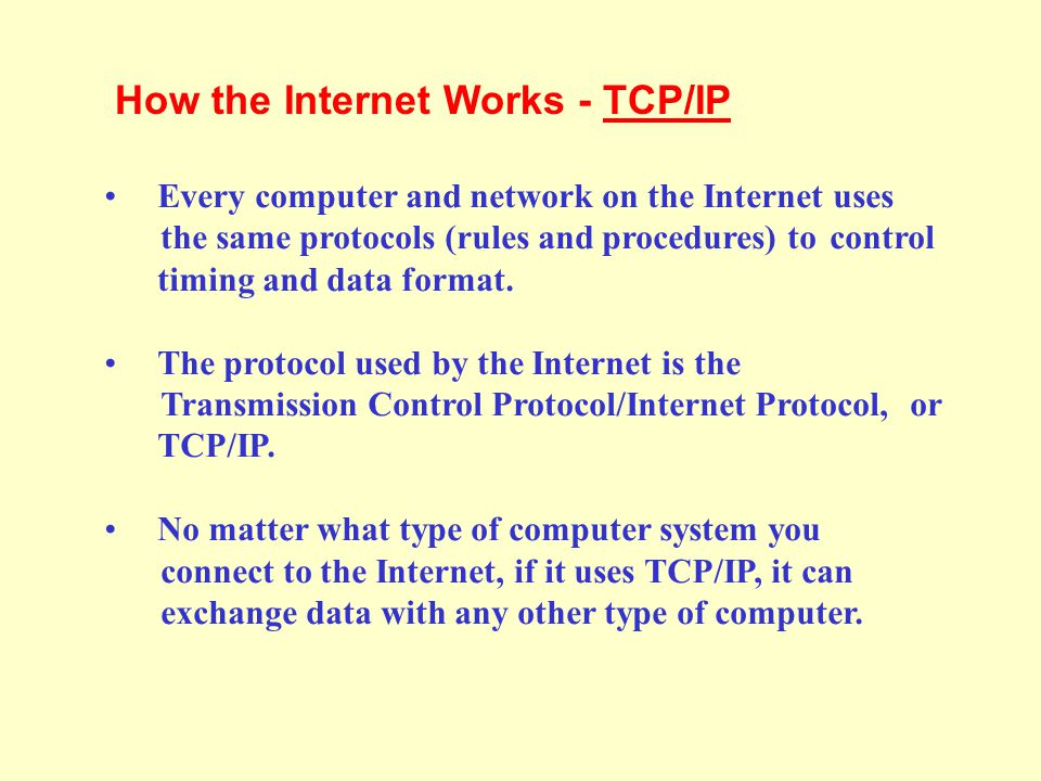 How the Internet Works - TCP/IP