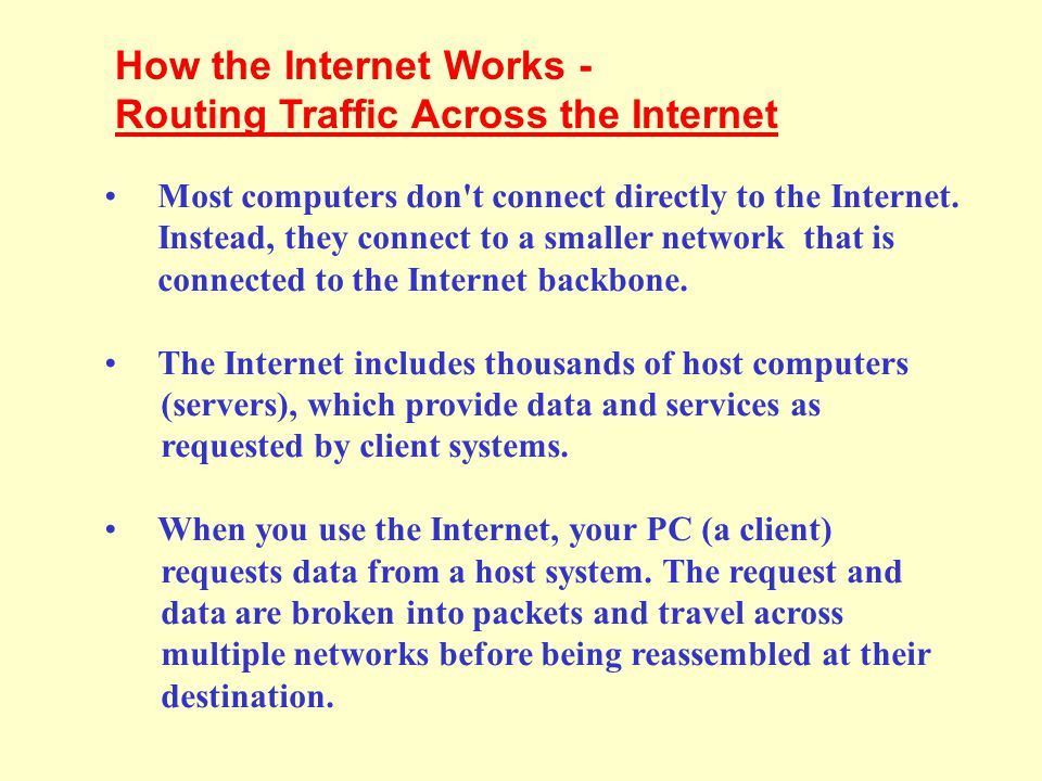 How the Internet Works - Routing Traffic Across the Internet