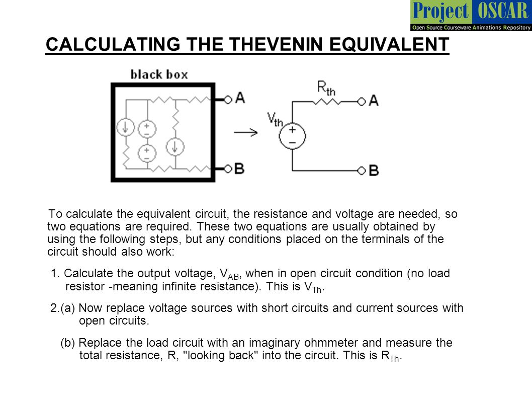 Finding Resistance In Circuit Ohmmeter : Thevenin norton theorem ppt video online download
