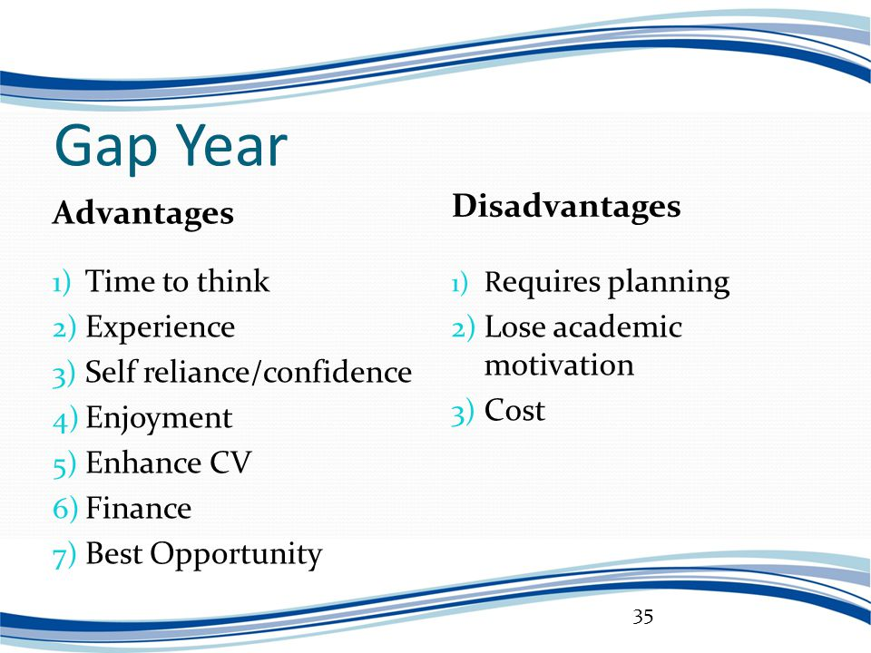 """the benefits of a gap year """"the gap year is frequently one of those terms you hear in college fairs and pretend to consider for a few weeks, daydreaming about foreign countries, exploring the world and finding yourself and independence away from the influences of parents, friends and school."""