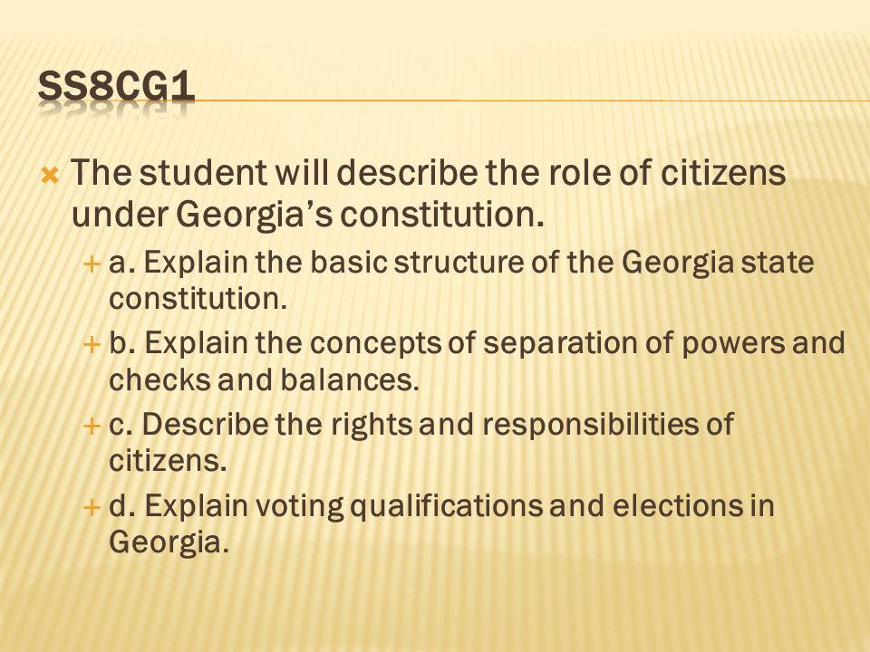 constitution and systems of georgia Constitution of georgia we, the citizens of georgia, whose firm will is to establish a democratic social order, economic freedom, a rule-of-law and a social state.