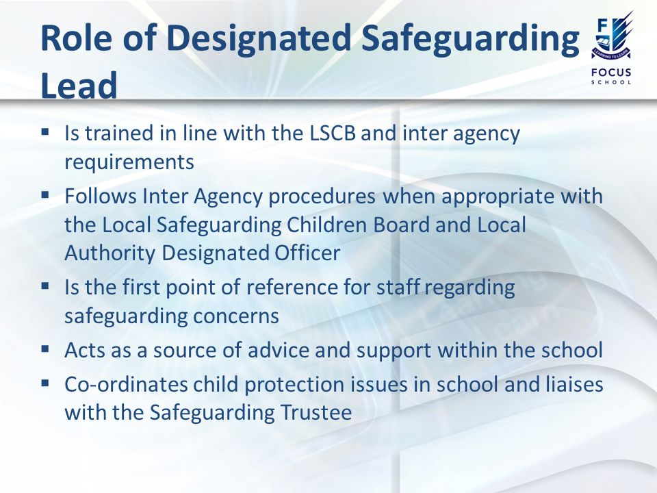 Safeguarding Training Basic Training For All School Staff