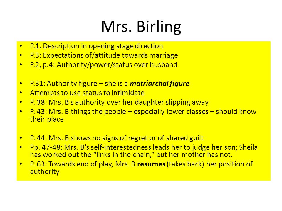 mr birling character advice Can you name the an inspector calls  what advice does mr birling give gerald and eric  what does the inspector show mr birling.