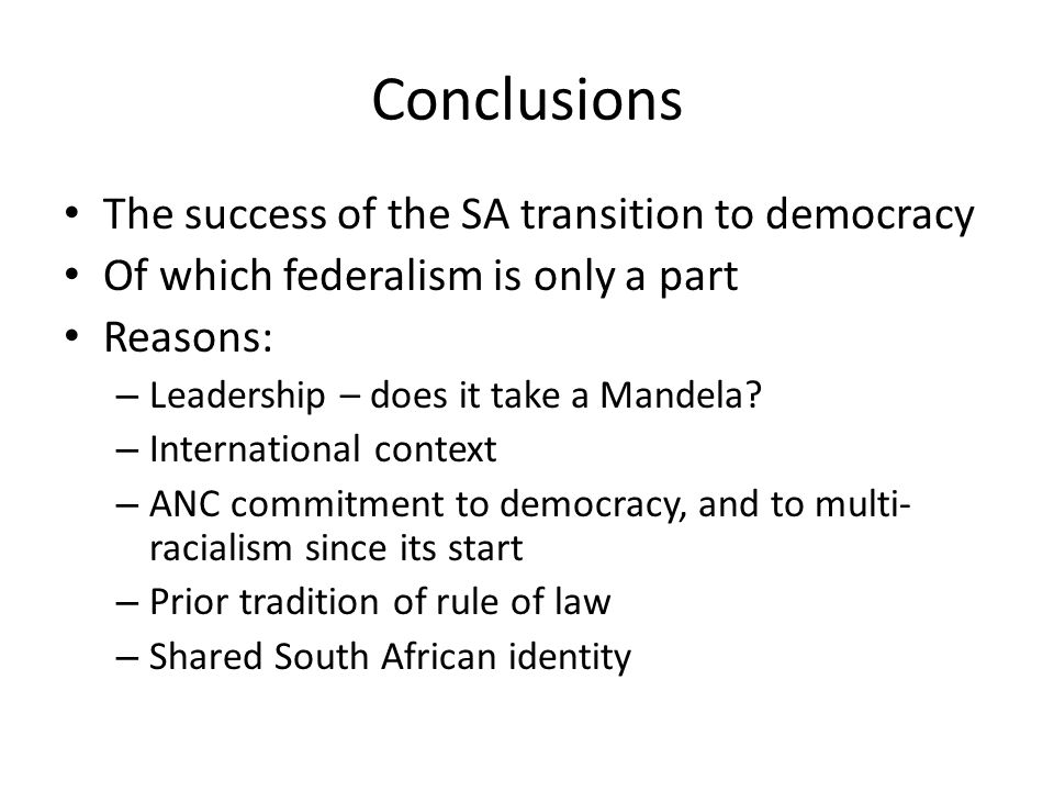 the instruments for a successful democratic transition Transition to democracy, and then a transition to a consolidated democracy   and leads to renewed repression, and successful transitions to democracy are.