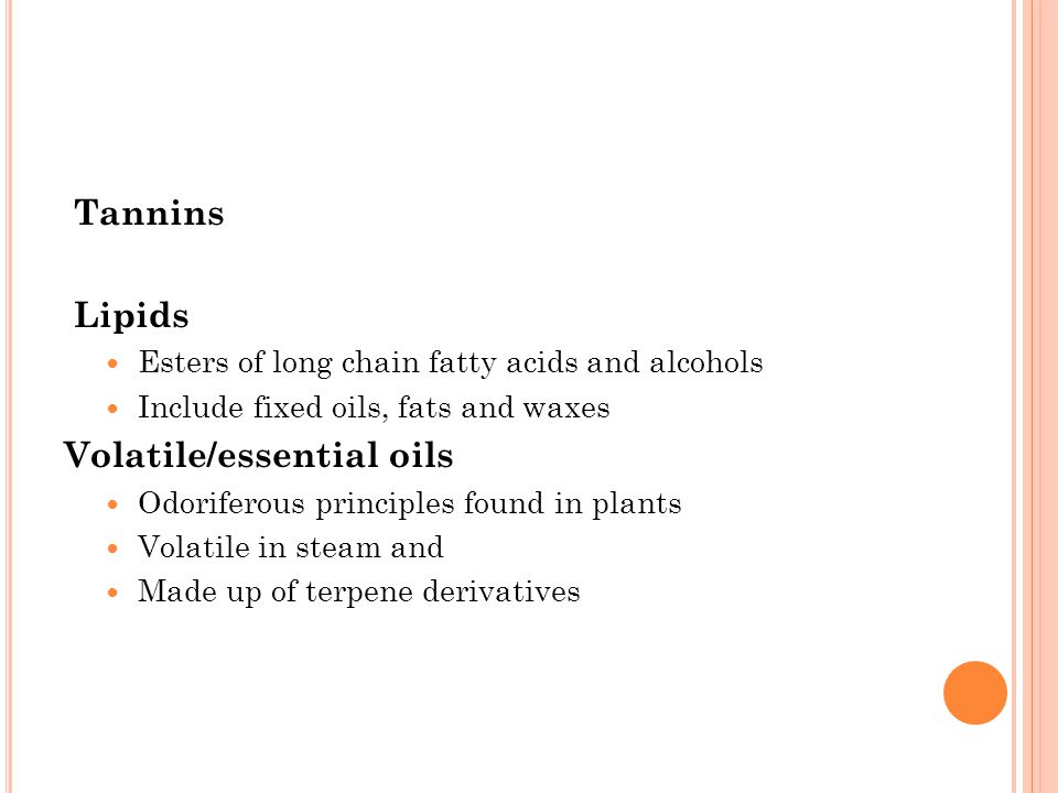 essential oils in pharmacognosy Pharmacognosy volatile oils 1 resins and resins combination 2 volatile or essential oils, as their name implies, are volatile in steam they differ entirely in both chemical and physical properties from fixed oils they are secreted in oil cells, in secretion ducts or cavities or in glandular hairs they are frequently associated with other substances such as gums and resins and themselves.