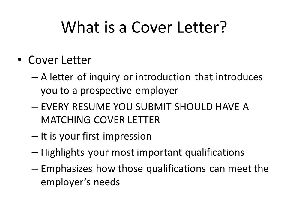 What is a Cover Letter Cover Letter