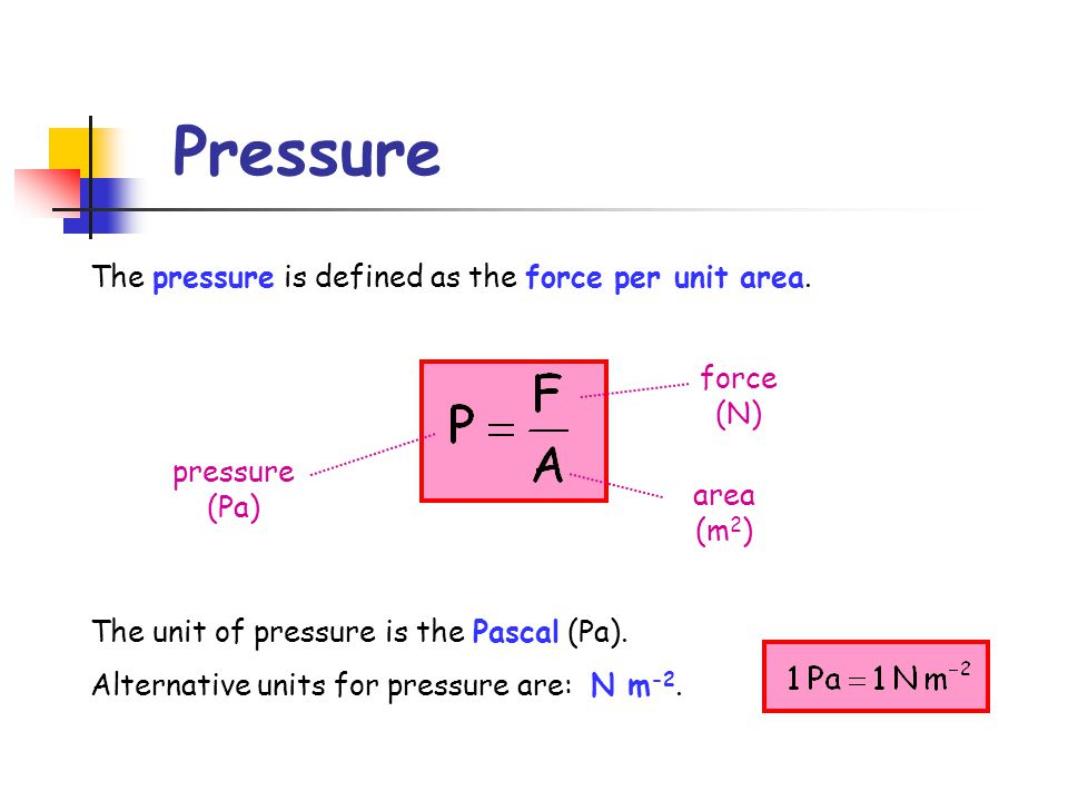 higher physics � unit � density and pressure ppt video
