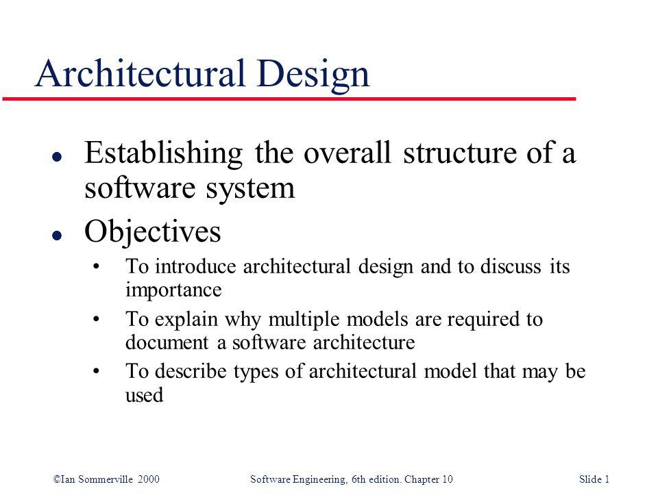 1 Architectural Design Establishing ...