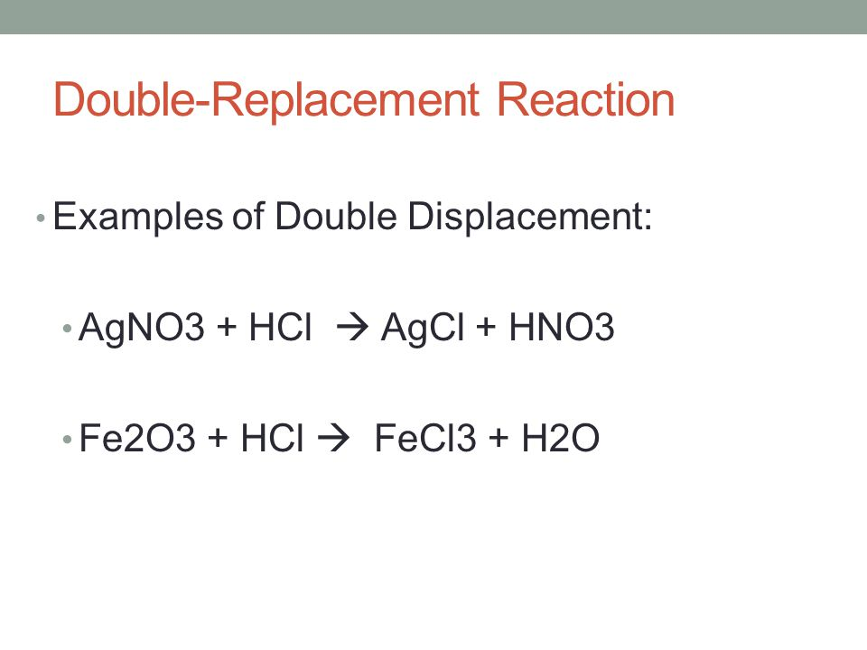 how to write double displacement reactions