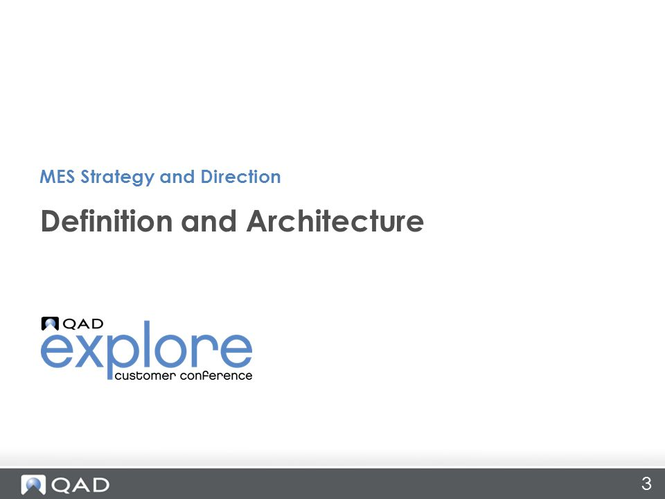Qad mes strategy and direction ppt video online download for Anarchitecture definition