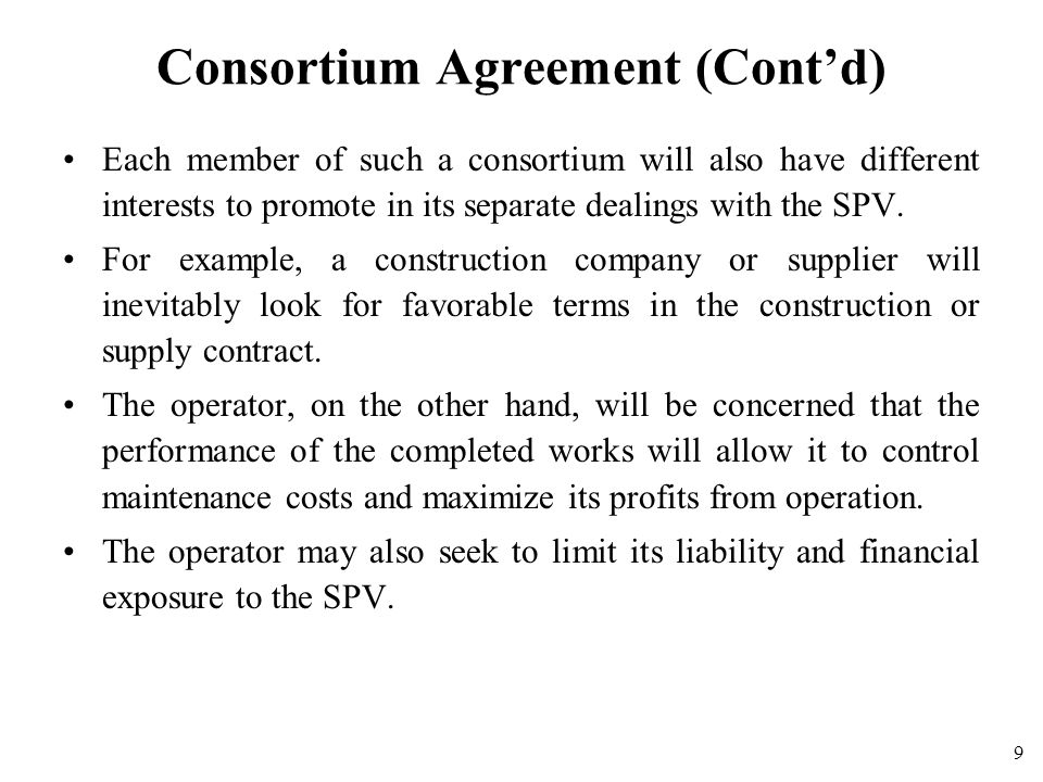 Project contractual structures ppt download 10 consortium agreement platinumwayz