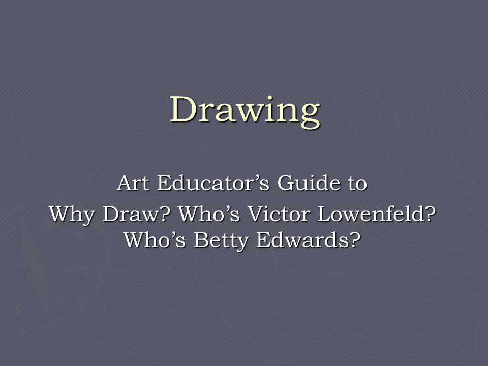 Drawing Art Educator's Guide to