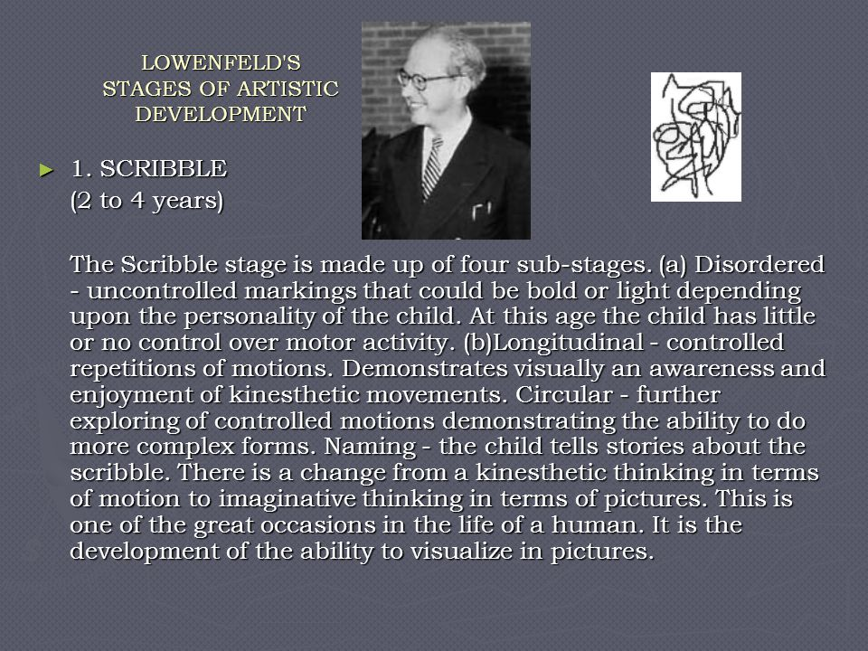 LOWENFELD S STAGES OF ARTISTIC DEVELOPMENT