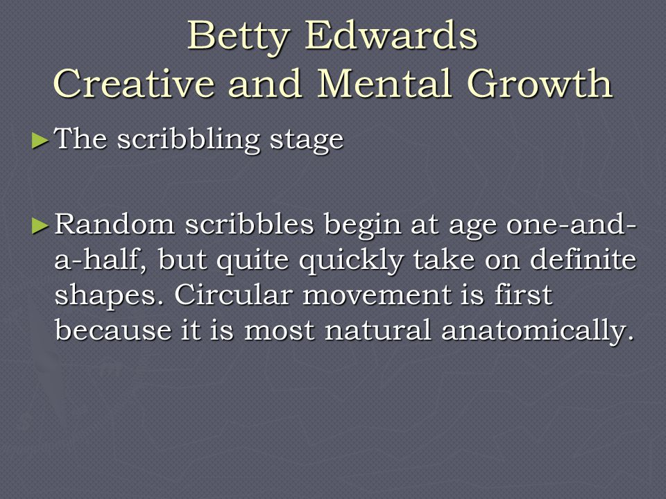Betty Edwards Creative and Mental Growth