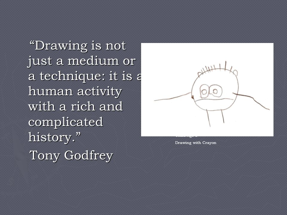 Drawing is not just a medium or a technique: it is a human activity with a rich and complicated history.