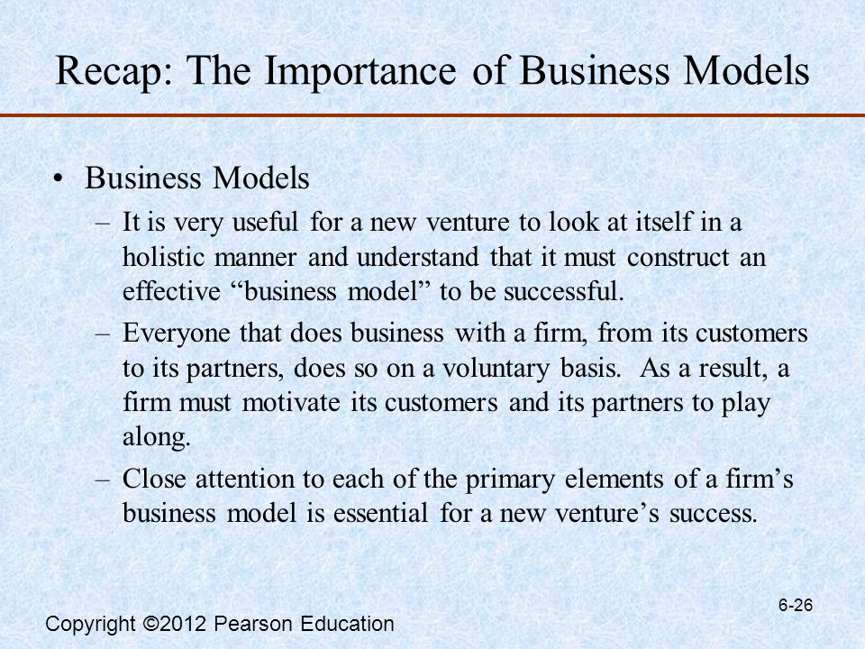 the importance of business models a Importance of the business model  however, software based business models also often have weaknesses entry barriers are often low, and functionality might be simple.