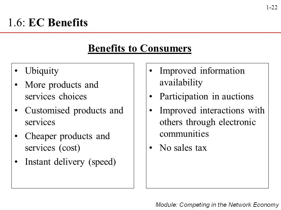 1.6: EC Benefits Benefits to Consumers Ubiquity