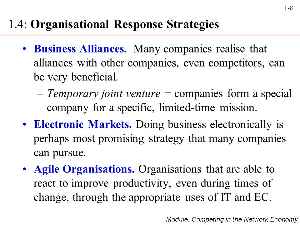 1.4: Organisational Response Strategies