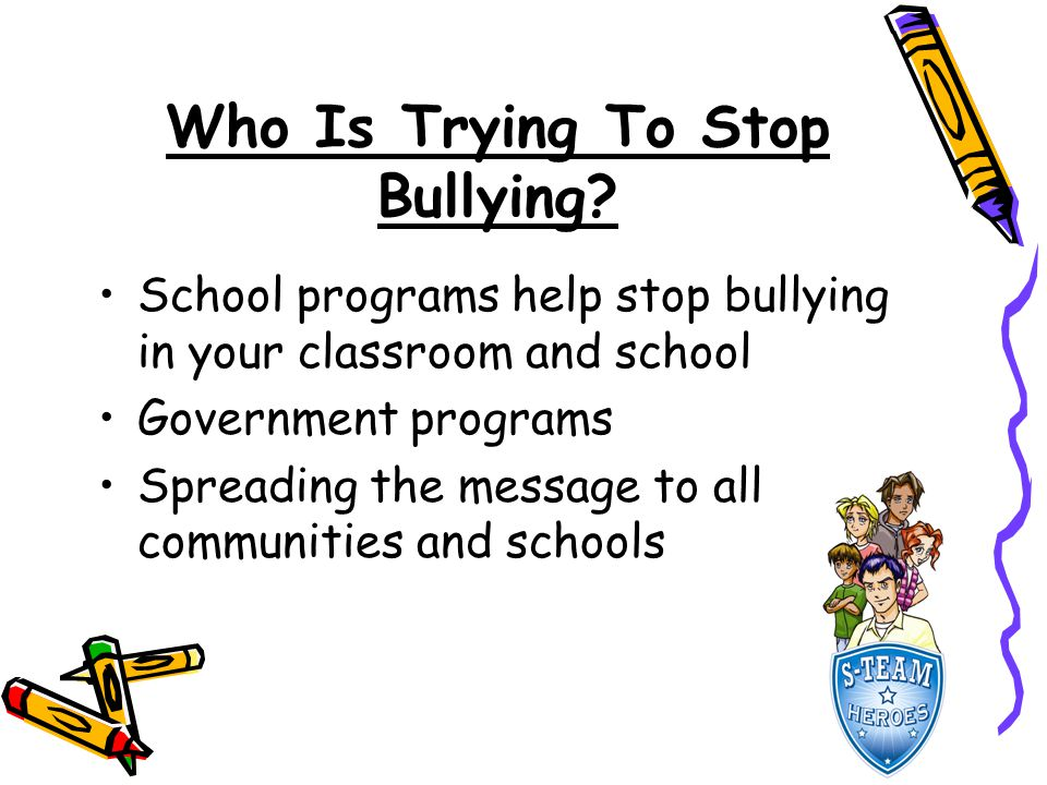 Who Is Trying To Stop Bullying