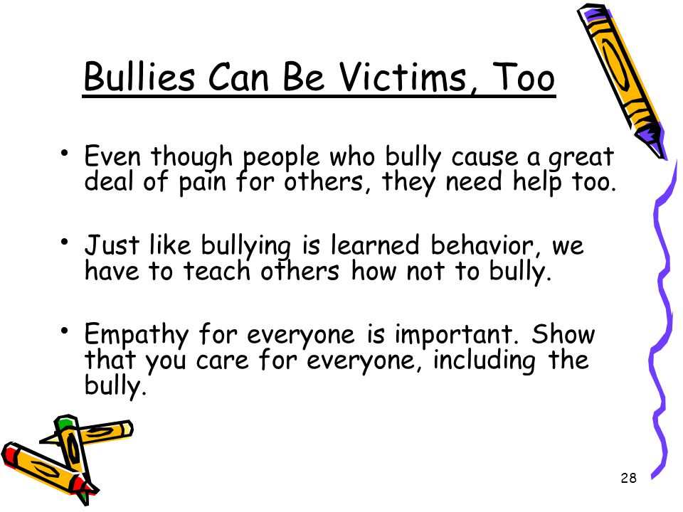 Bullies Can Be Victims, Too
